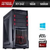 Computador Neologic Gamer First Play Amd A8 7650k  16GB 500GB  R7 240 Win 8 - NLI66497 -
