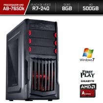 Computador Neologic Gamer First Play Amd A8 7650k  8GB  500GB  R7 240 Win 7 - NLI66444 -