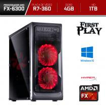 Computador Neologic Gamer First Play Amd FX6300 4GB  1TB  R7 360 2GB DDR5  Win 10 - NLI66669 -