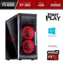 Computador Neologic Gamer First Play Amd FX6300 4GB  500GB  R7 360 2GB DDR5  Win 8 - NLI66659 -