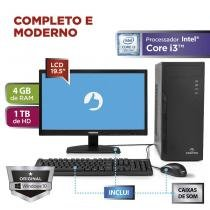 "Computador Positivo Station i3 41TB Core i3 4GB 1TB 19.5"" Windows 10 Home - Preto -"