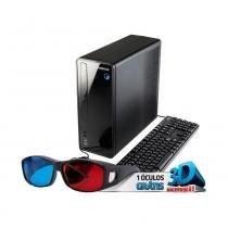 Computador Positivo Stilo DS-3550 Dual Core 4GB HD 500 Win 10 Óculos 3D - Positivo