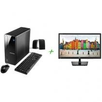 "Computador Positivo Stilo DSi7667 Intel Core i3 - 4GB 1TB Linux + Monitor LG LED 19,5"" Widescreen"