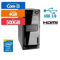 Computador Premium Business Intel Core I3 4Gb 500Gb / Hdmi / Usb 3.0 - PREMIUM