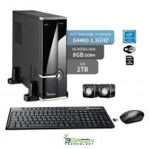 Computador Slim Dual Core G4400 8Gb Hd 2Tb Wifi 3Green Triumph Business Desktop New - 3green technology