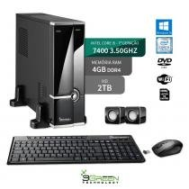Computador Slim Intel Core I5 7400 4Gb 2Tb Windows10 Dvd Wifi 3Green New - 3green technology