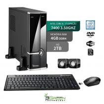 Computador Slim Intel Core I5 7400 4Gb Ddr4 2Tb Dvd Wifi 3Green New - 3green technology