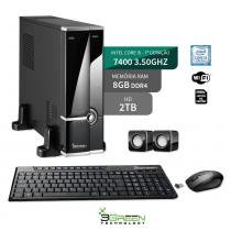 Computador Slim Intel Core I5 7400 8Gb Ddr4 Hd 2Tb Wifi 3Green New - 3green technology