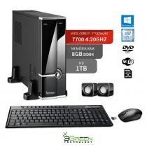 Computador Slim Intel Core I7 7700 8Gb Ddr4 1Tb Dvd Windows 10 3Green New - 3green technology