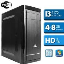 Computador Workstation Intel Core i3, 1TB HD, Wifi, Windows 7 - Alfatec