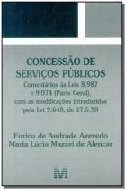 Concessão de Serviços Públicos - Malheiros editores