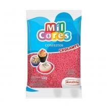 Confeito Miçanga Rosa 500g - Mil Cores - Mavalerio