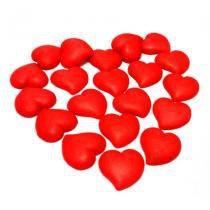 Confeitos de Açúcar Coração Vermelho Grande 10 unidades - Festabox