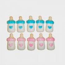 Confeitos de Açúcar Mini Mamadeira Azul 8 unidades - Festabox
