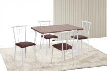 Conj. Base Pintada Montana Marrom 30mm + 4 Cadeiras Fit Trees Mar. - TRCONJUNTO MARTA - Tre Paroni - Tre Paroni