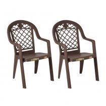 Conjunto 02 Cadeiras Jamaica Bronze - Marrom - Grosfillex