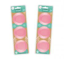 Conjunto 12 Formas Silicone Candy 6 Cm Cupcake Muffins Rosa - Art house
