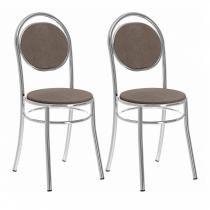 Conjunto 2 Cadeiras 0190 Carraro Camurça/Conhaque -