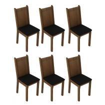 Conjunto 6 Cadeira 4290X Madesa Rustic/Preto - Madesa