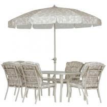Conjunto Bali 8 Peças - Cadeira, Mesa, Guarda-Sol - MOR
