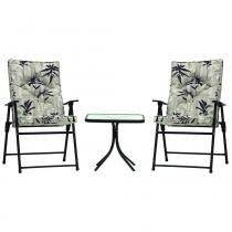 Conjunto Bali Para Casa E Jardim Com Mesa e 2 Cadeiras Giratórias Mor - mor