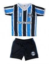 a6fe5e46b7 Conjunto Bebê Grêmio Dry Gola V Listras Oficial - Bebê brasileiro