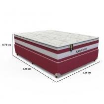 Conjunto Box Casal Agility Confort - 128 x 188 x 70 - Orthoflex