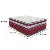 Conjunto Box King Size Agility Confort - 193 x 203 x 70 - Orthoflex