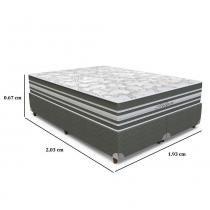 Conjunto Box King Size Titan  193 x 203 x 67 - Orthoflex