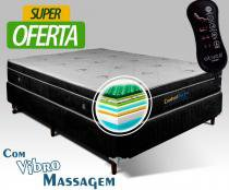 Conjunto Box Magnético Viúva Confort Dream com Vibro Massageador 1,28x1,88x60 - Golddream