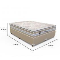 Conjunto Box Queen Pleasure Space - 158 x 198 x 70 - Orthoflex