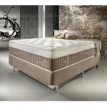 Conjunto Cama Box Casal de Molas Ecoflex Excellence Flesh 138 x 188 x 075 - 1,38 x 1,88 - Ecoflex