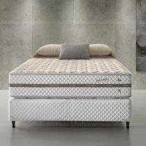 Conjunto Cama Box Casal de Molas Ecoflex High Density 128 x 188 x 067 - Ecoflex