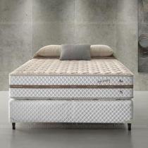 Conjunto Cama Box Casal de Molas Ecoflex High Density 138 x 188 x 067 - Ecoflex