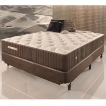 Conjunto Cama Box Casal de Molas Ecoflex Sensazione 1,38 x 1,88 x 0,72 - 1,38 x 1,88 - Ecoflex