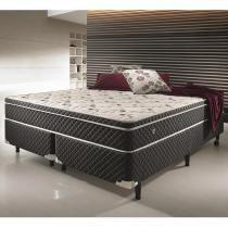 Conjunto Cama Box Casal King Size Soft Confort - Antiácaro, Antifungo e Antialérgico - 1,93 X 2,03 X 0,60 - 1,93 X 2,03 - Ecoflex