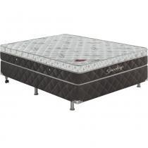 Conjunto Cama Box Casal Top Premium 128 x 188 Marrom/Branco - Sonotop