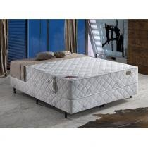 Conjunto Cama Box Casal Top Quântico 138 x 188 Branco/Azul - Sonotop