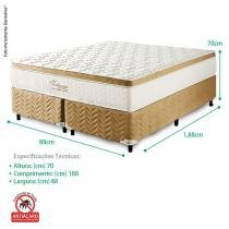 Conjunto Cama Box e Colchão Solteiro Delicato Molas Prolastic - 88x188x70 - Celiflex