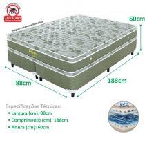 Conjunto Cama Box e Colchão Solteiro Paris Molas Prolastic - 88x188x60 (Verde) - Celiflex