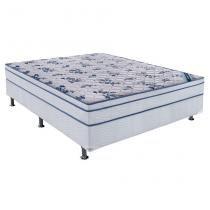 Conjunto Cama Box Physical com Colchão Casal Molas Nanolastic Confort (20x138x188) Branco - Ortobom