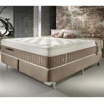 Conjunto Cama Box Queen Size de Molas Ecoflex Excellence 1,58 x 1,98 x 0,75 - 1,58 x 1,98 - Ecoflex