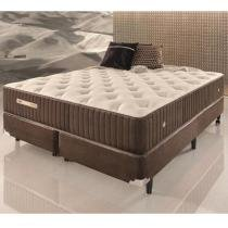 Conjunto Cama Box Queen Size de Molas Ecoflex Sensazione 1,58 x 1,98 x 0,72 -