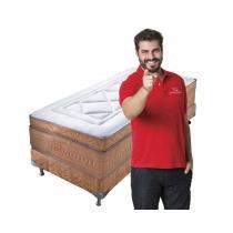 Conjunto cama box solteiro c/colchão bellagio avelã - orthocrin -