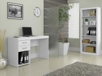 Conjunto Camaçari 2 Gavetas Politorno - com Mesa para Computador/Escrivaninha e Estante