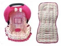 Conjunto Capa Para Bebê Conforto E Capa De Carrinho Balao Rosa - Alan pierre baby