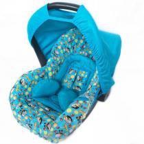 Conjunto Capa para Bebê Conforto Mergulhador Azul Claro com Acolchoado Extra - Alan pierre baby