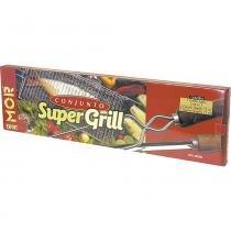Conjunto Churrasco 5 Peças Super Grill 3302 Mor - Mor