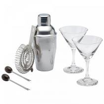 Conjunto Cocktail Bar Luxe Lounge Mini Martini 6 Peças Kitchen Craft -