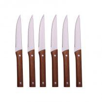 Conjunto com 5 facas - Prata - Full fit